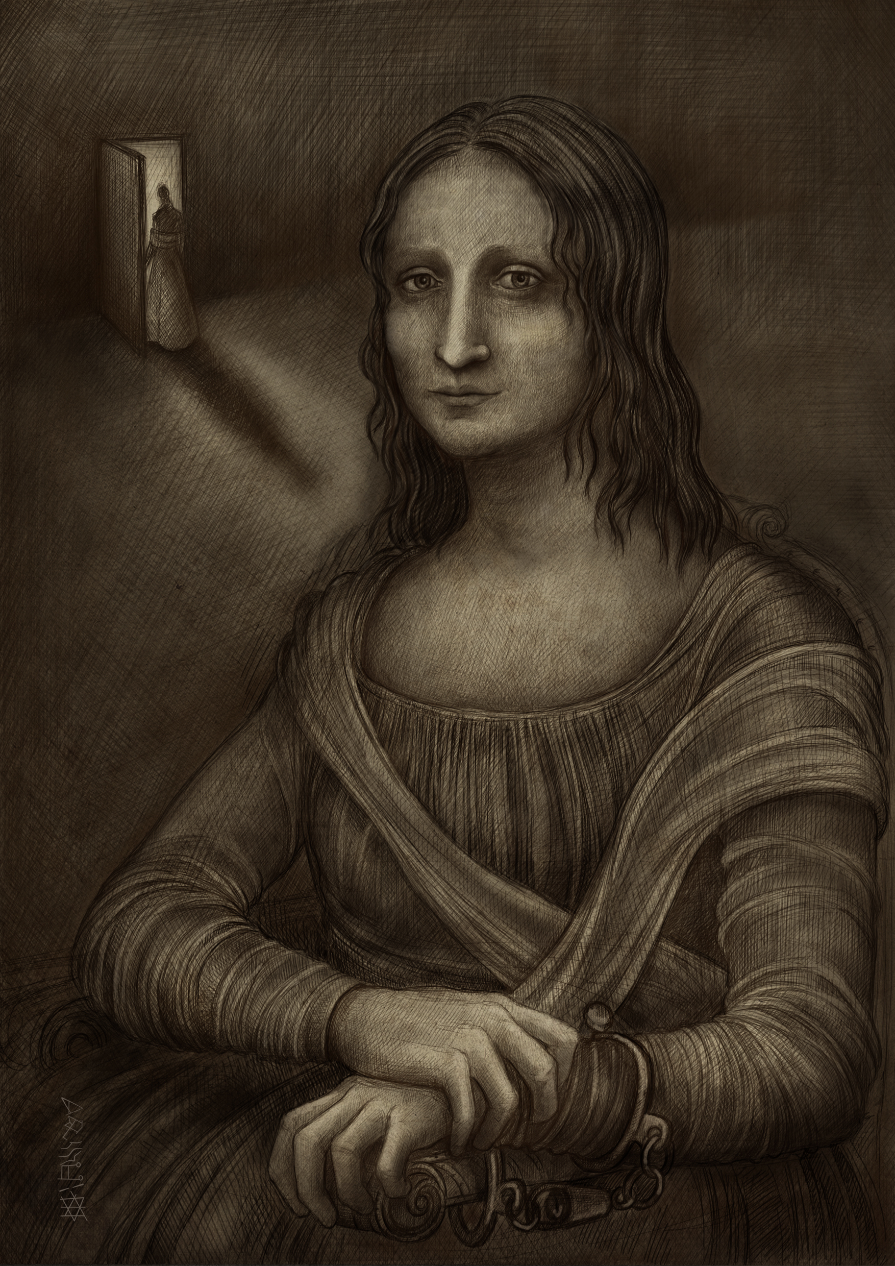 La Gioconda, 29.7 x 42cm 300 dpi, Digital Painting, Summer 2014